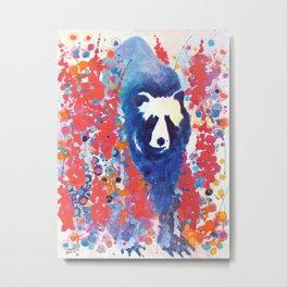 Blue Bear Metal Print