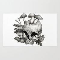 mushrooms Area & Throw Rugs featuring Mushrooms by Arnaud Gomet