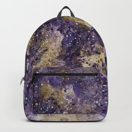 Writings in the Sky the Night Galaxy watercolor by CheyAnne Sexton Backpack