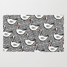 Graphic Swan Rug