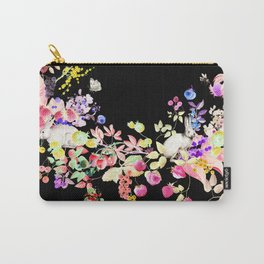 Soft Bunnies black Carry-All Pouch