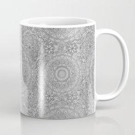 Grey Watercolor Mandala Pattern Coffee Mug