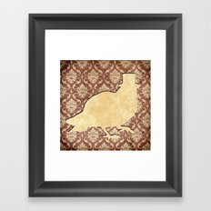 In which a pigeon is fancy Framed Art Print