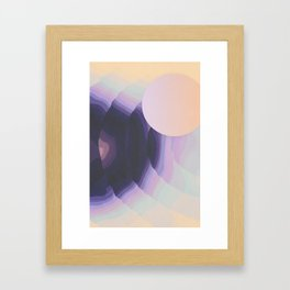 Ultraviolet Impulses Framed Art Print