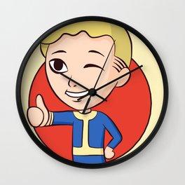 Vault Boy Chibi Wall Clock