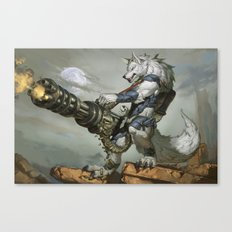 Thunder Werewolf Canvas Print