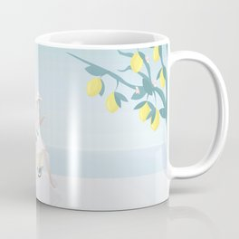 Drinking cocktails, under lemon trees, on a scooter Coffee Mug