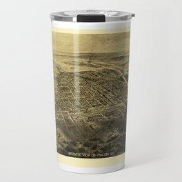 Bird's Eye View of Macon, Georgia (1912) Travel Mug