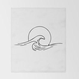 Waves Minimal art Throw Blanket