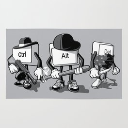 Computer Mafia Rug