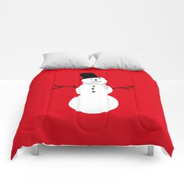 Christmas Snowman-Red Comforters