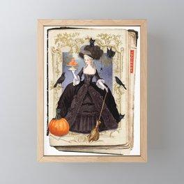 Halloween Witch Pumpkin Macarons Framed Mini Art Print