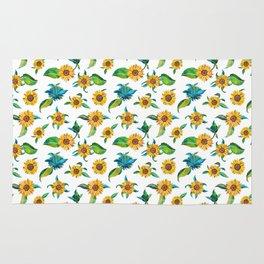 Sunflowers pattern Rug