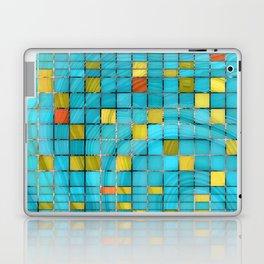 Block Aqua Blue and Yellow Art - Block Party 2 - Sharon Cummings Laptop & iPad Skin