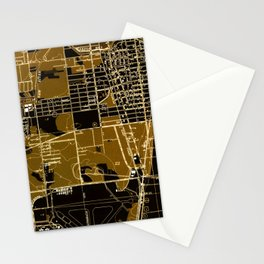 Fort Lauderdale old map year 1949, united states old maps Stationery Cards