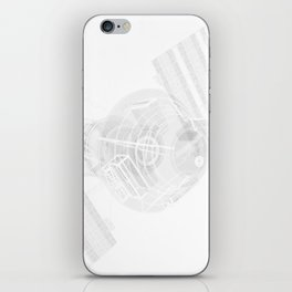 Explorer White and Grey iPhone Skin