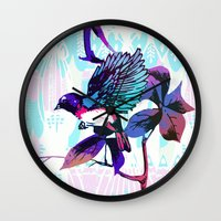 birdy Wall Clocks featuring Birdy by Cata