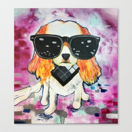 Puppy Pop 2 Canvas Print