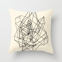 crystals Throw Pillows featuring Crystals by Anderbear