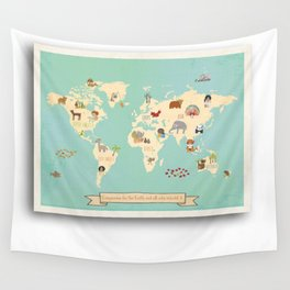 Gallery wall wall tapestries society6 global compassion world map wall art on gallery wrapped canvas for children wall tapestry gumiabroncs Gallery