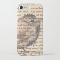 waldo iPhone & iPod Cases featuring Ralph Waldo Emerson Bird by Wendy Roscoe Designs