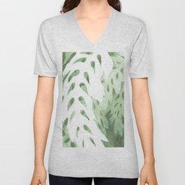 Abstract Fern Unisex V-Neck