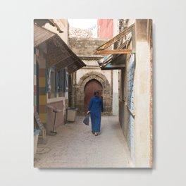 Scenes From A Moroccan Medina Metal Print