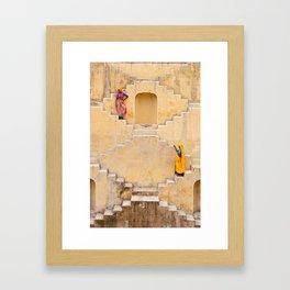 Amber Stepwell II, Rajasthan, India Framed Art Print