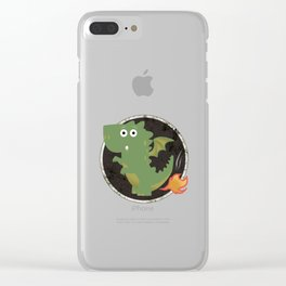Farting Dragon Clear iPhone Case