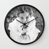 child Wall Clocks featuring Child by JJ's Graphics & Photography
