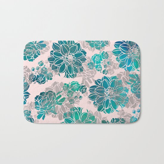 Flower Pattern Design #4 Bath Mat