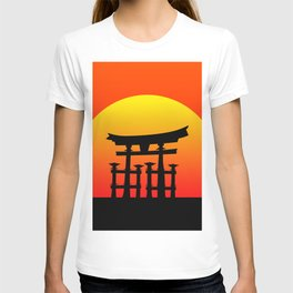 Sunset and Torii in Japan T-shirt