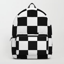 Black & White Checker Checkerboard Checkers Backpack