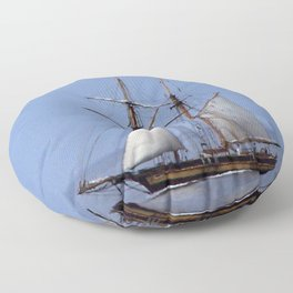 Tall ship Sailing the mighty Saint-Lawrence Floor Pillow