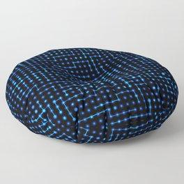 Sci-Fi Tech Circuit Floor Pillow