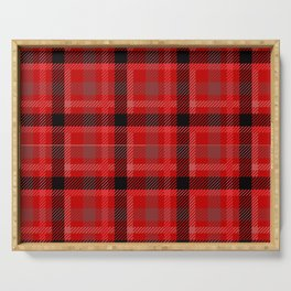 Red And Black Plaid Flannel Serving Tray
