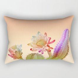 Peach Cactus Rectangular Pillow
