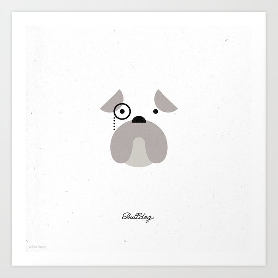 Pedigree: Bulldog Art Print