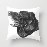 best friend Throw Pillows featuring Best Friend by Moose Art