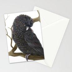 Glossy Black Cockatoo Stationery Cards