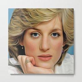 Princess Diana (Oil Paint Art) Metal Print