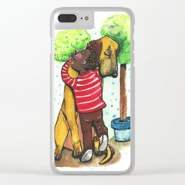 Puppy love Clear iPhone Case