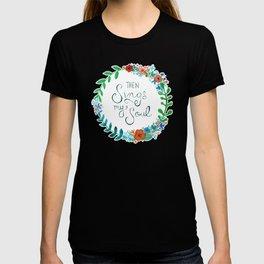 My Soul Sings Floral Wreath T-shirt