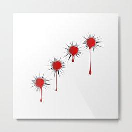 Blooded Bullet Holes Metal Print