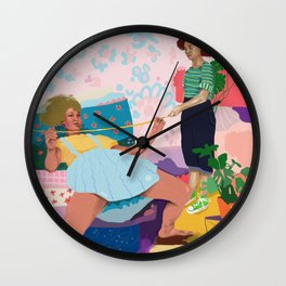 Limbo dance Wall Clock