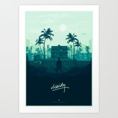 Welcome back to Vice City Art Print