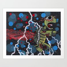 My love for you is a zombie turtle, it is beautiful, and it will never die. Art Print