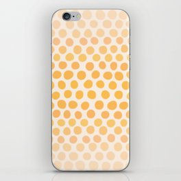 Honey Gold Ombre Dots - White iPhone Skin