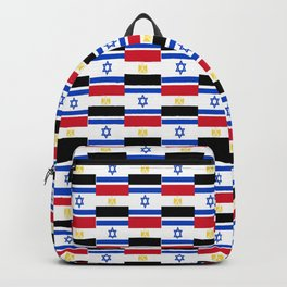 Mix of flag: Israel and Egypt Backpack