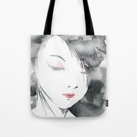 hentai Tote Bags featuring Geisha by Nxolab